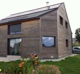 Construction d'une maison à ossature bois à SAINT GERAND